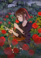 .CC. Cutting the rose.