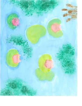 Glittery Lily Pads