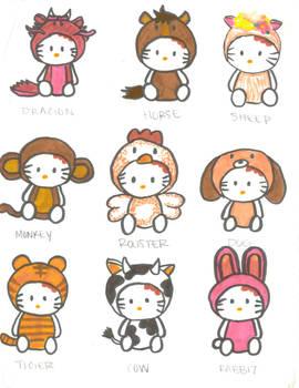 Hello Kitty Chinese Years