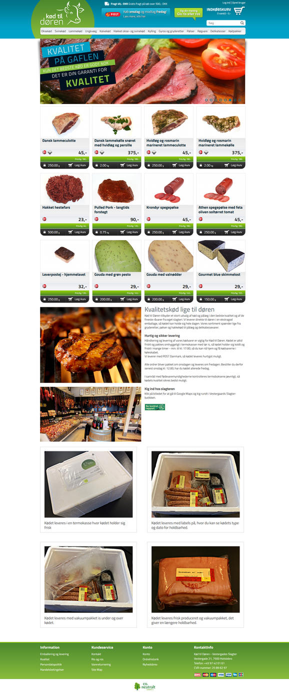 Webshop - Kod til Doren (Butcher) by PageDesign