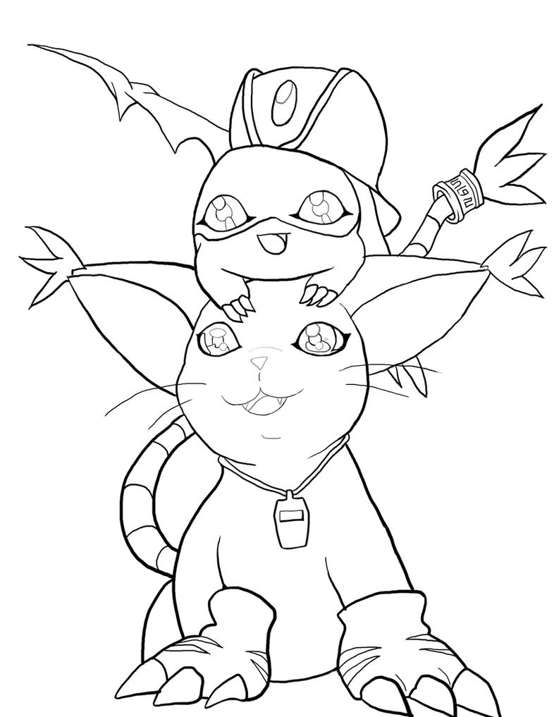 Gatomon/Patamon Coloring Book Project Collab by Darkshadowchild on ...
