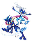 The Blue Ninja Frogs