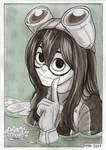 Inktober 04 - Tsuyu Asui