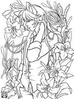 Cats over Flowers 03 by raposavyk