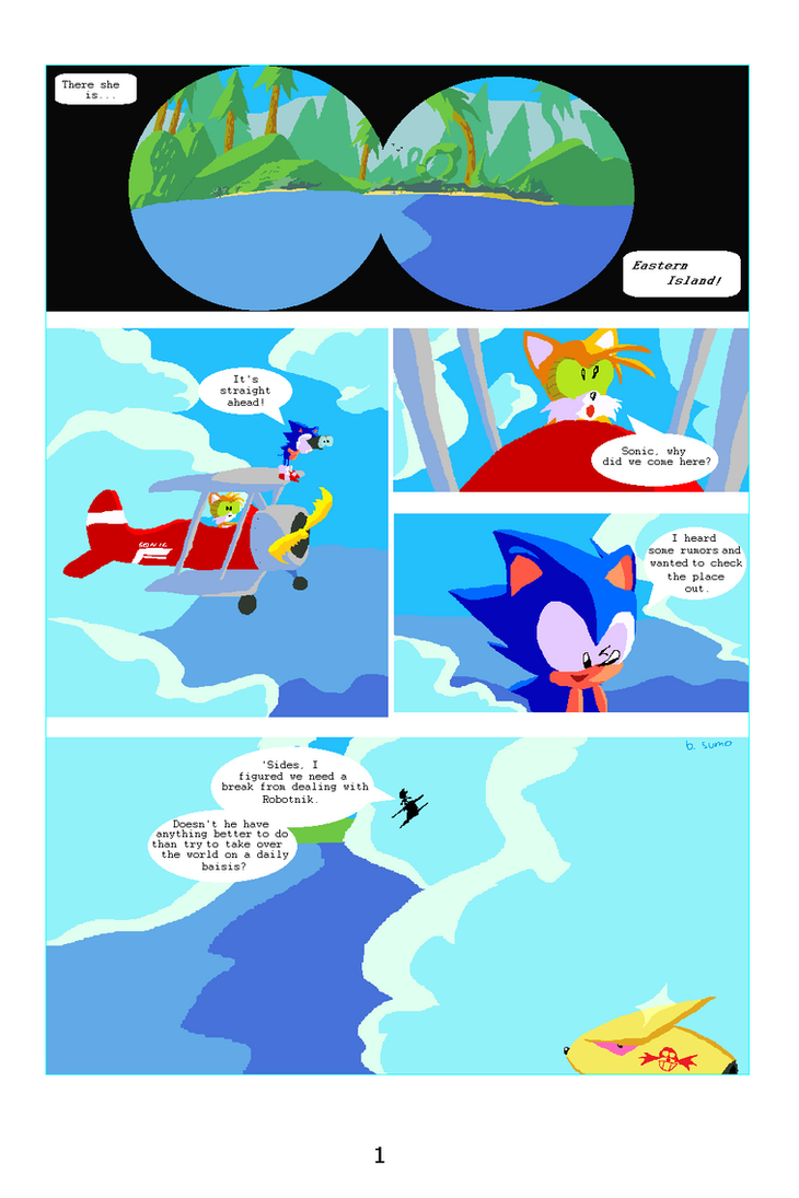 Sonic the Hedgehog the Comic pg 1 by bulgariansumo