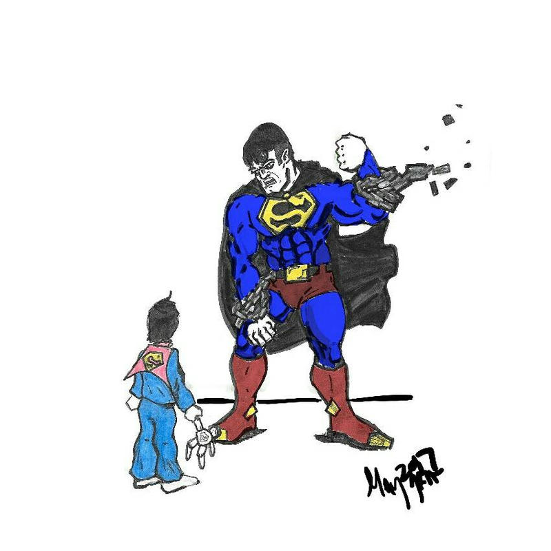 Superman Innocence versus Power by GOLDmouseTRAP