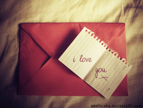 i love you X