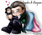 Chibi Legolas and Aragorn