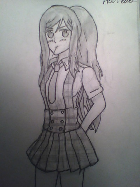 Another one of my OCs in the Gakuen uniform. Mexic by PrussiasWife1