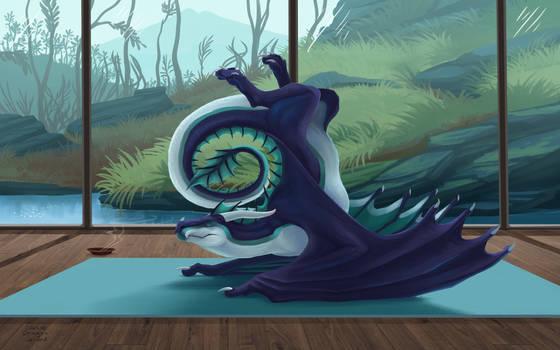 Dragon yoga (1st pose)