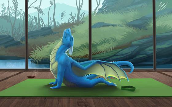Dragon yoga (3rd pose)