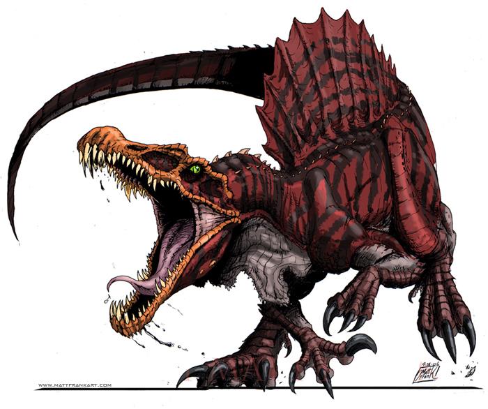 Raging Spinosaurus by KaijuSamurai