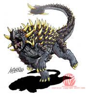 Godzilla Neo - ANGUIRUS by KaijuSamurai