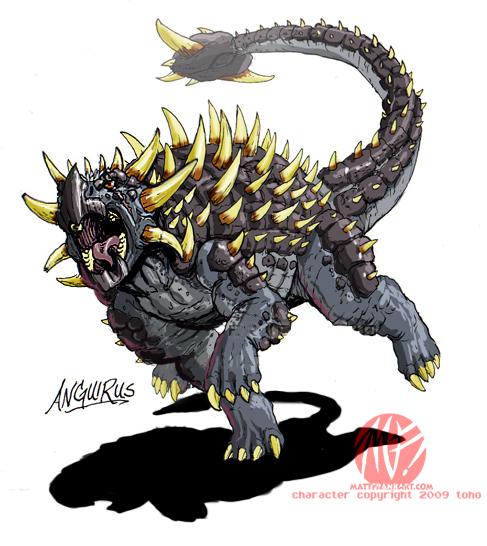 Anguirus Concept Art Godzilla Neo - ...