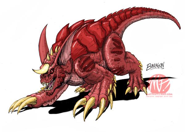 Godzilla Neo - BARAGON by KaijuSamurai