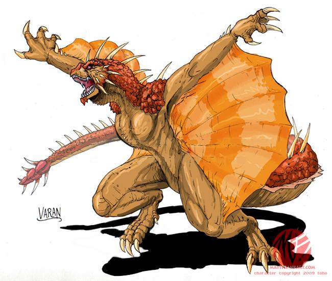 Godzilla Neo - VARAN by KaijuSamurai