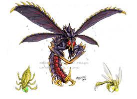 Godzilla Neo - MEGAGUIRUS by KaijuSamurai