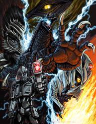 Godzilla X Kaiju Killer poster by KaijuSamurai
