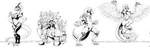 Dinosaucers drawings