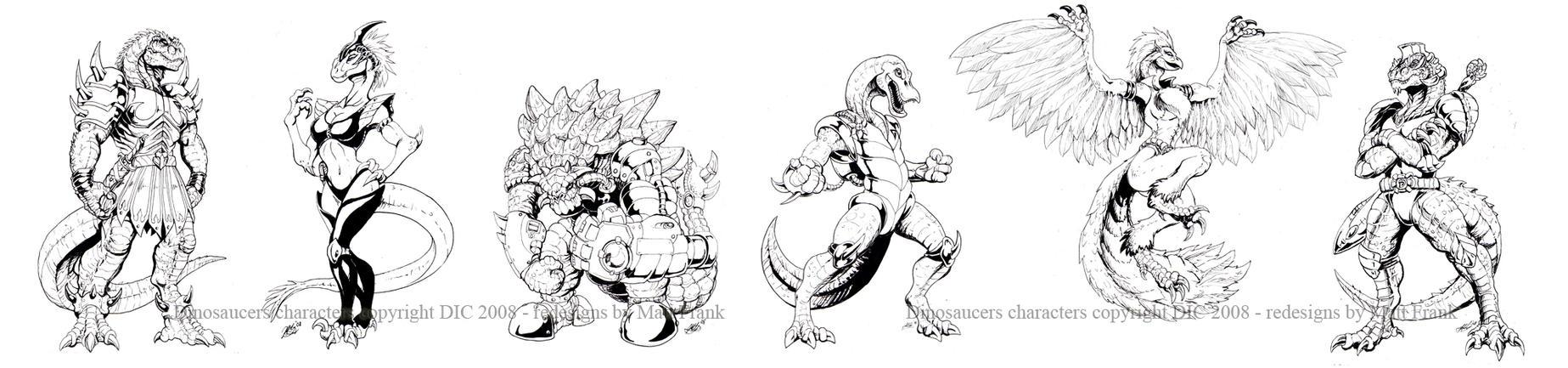 Dinosaucers drawings by KaijuSamurai
