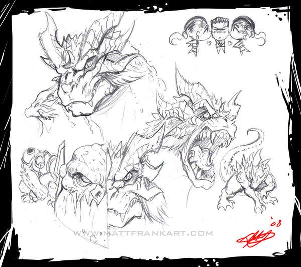 More Gfantis sketches by KaijuSamurai