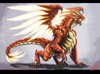 Fire Dragon concept by KaijuSamurai