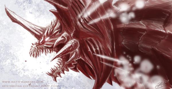 Destoroyah Strikes by KaijuSamurai