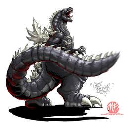 Godzilla Neo - GHOST GODZILLA by KaijuSamurai