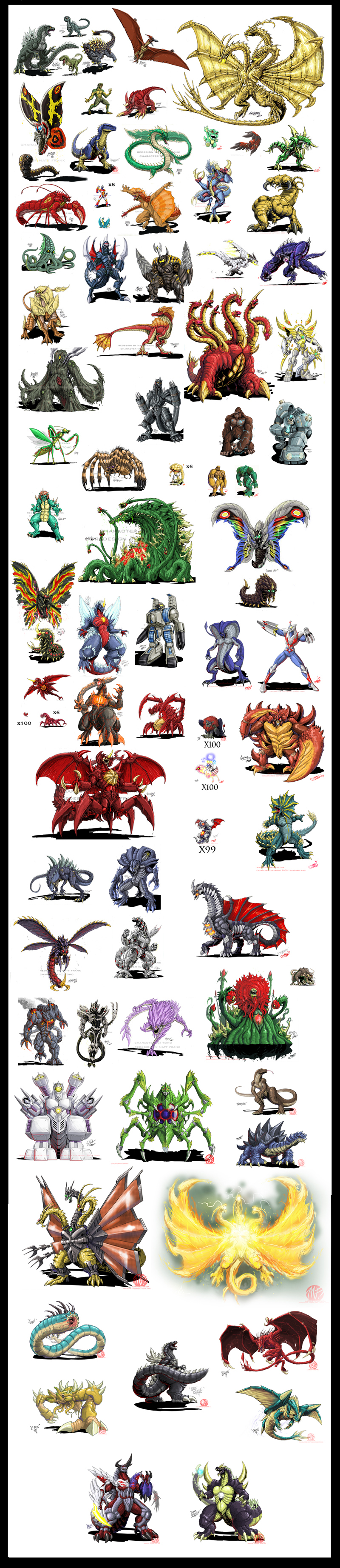 list of monsters i wan...