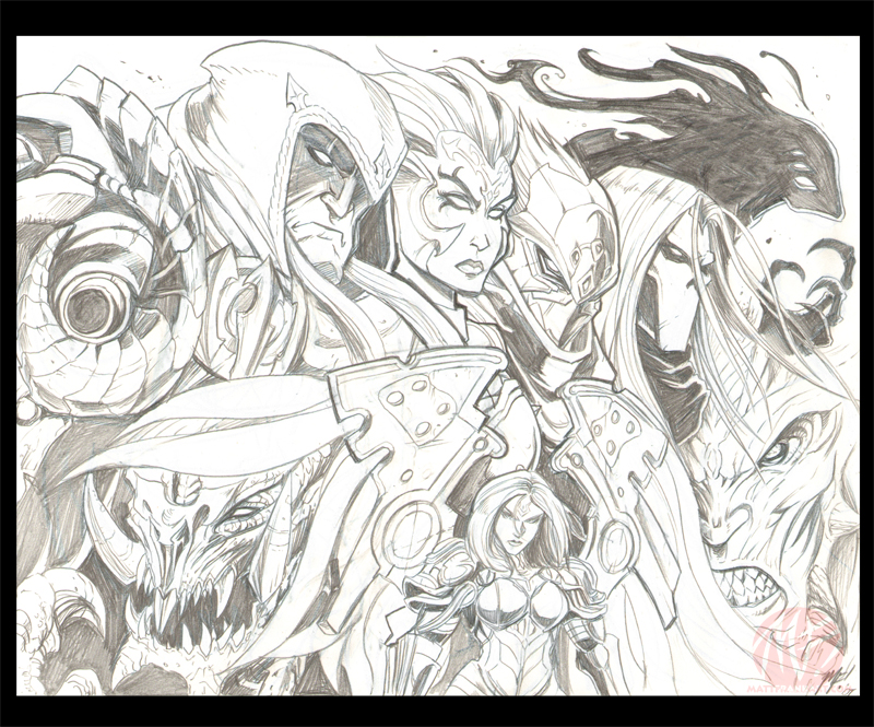 Darksiders sketches by KaijuSamurai