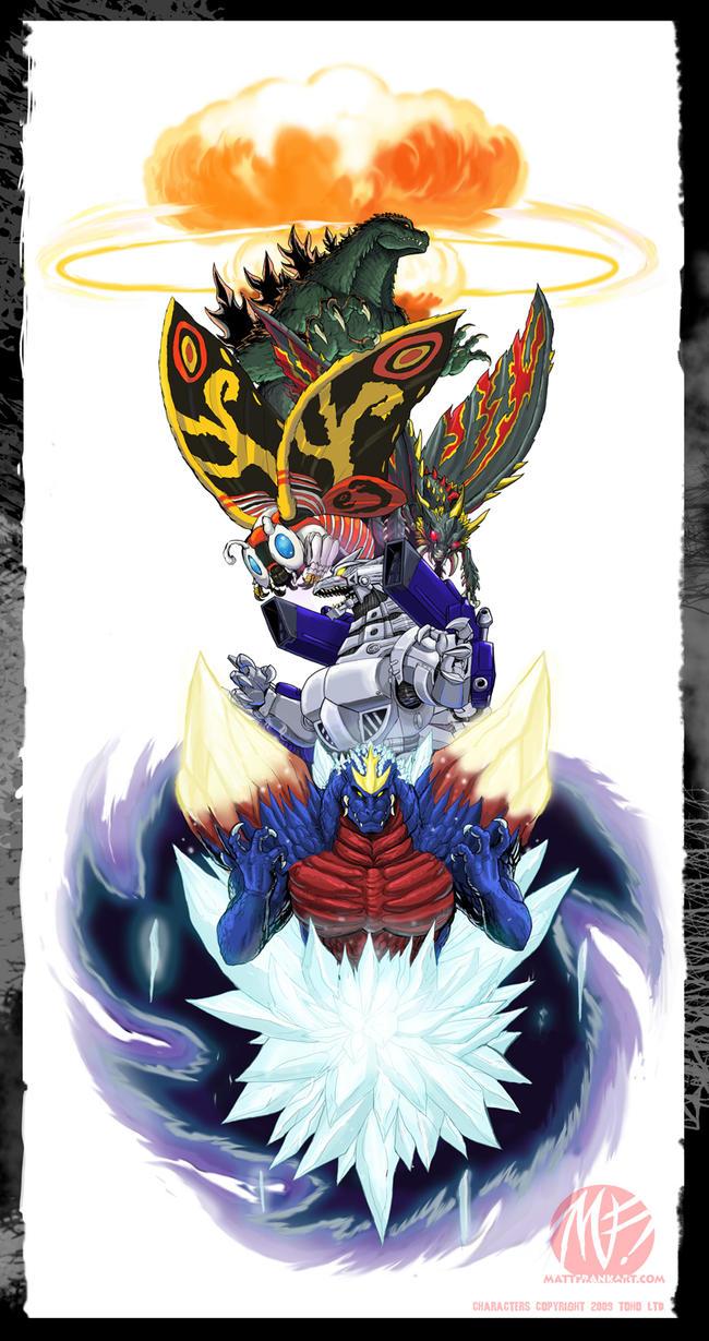 Godzilla Wars tattoo design by KaijuSamurai