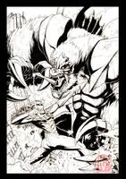Ultraman Zero vs Pelagia by KaijuSamurai