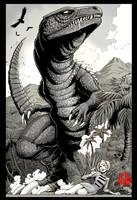 Gorosaurus pinup by KaijuSamurai