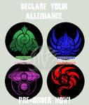 Kaiju Faction Buttons for sale by KaijuSamurai