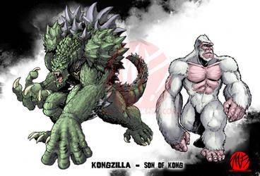 Kongzilla and Son of Kong by KaijuSamurai