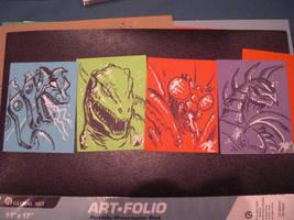 G-Fest 2010 Sketch Cards by KaijuSamurai