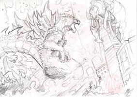 A New Take on Godzilla WIP by KaijuSamurai