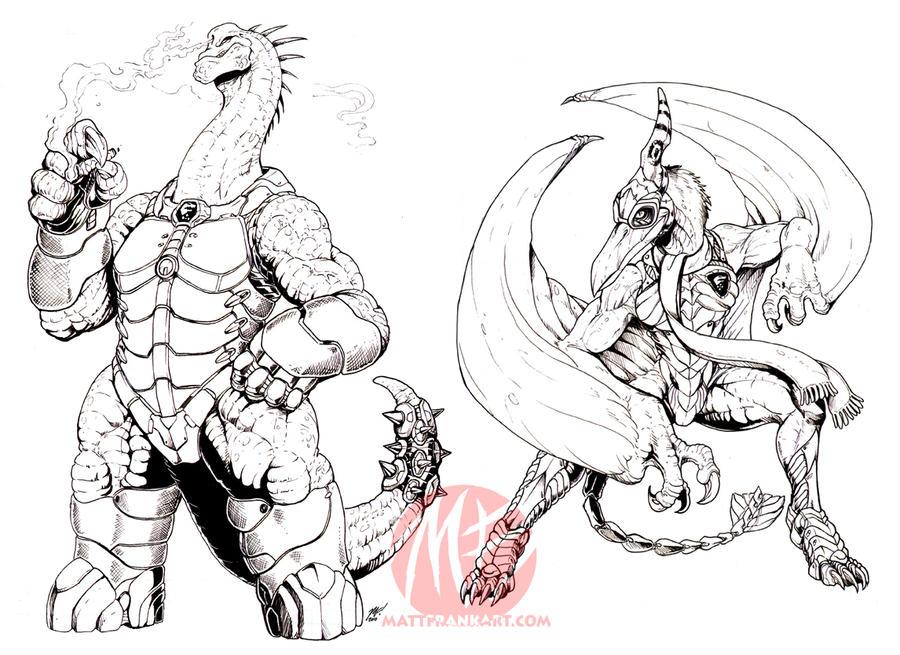 Tyrannos - Brachio and Dactyl by KaijuSamurai