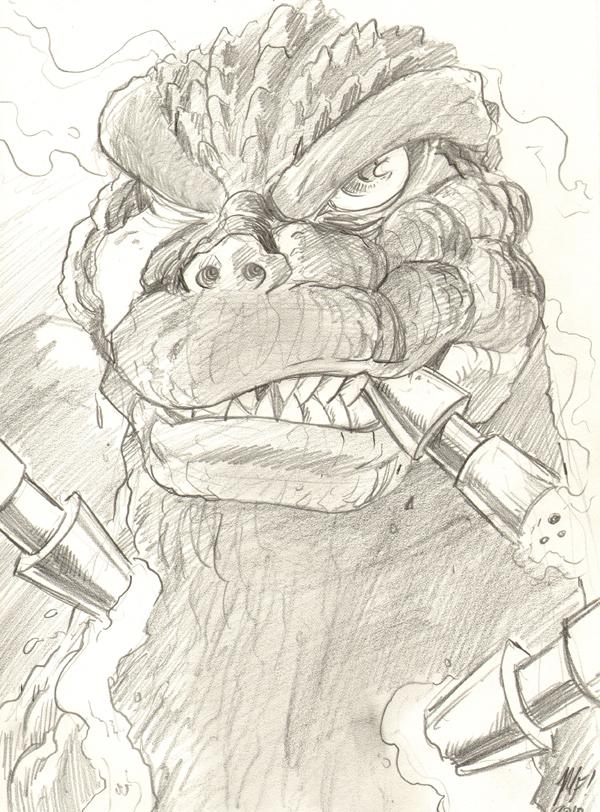 Godzilla dont go down so easy by KaijuSamurai