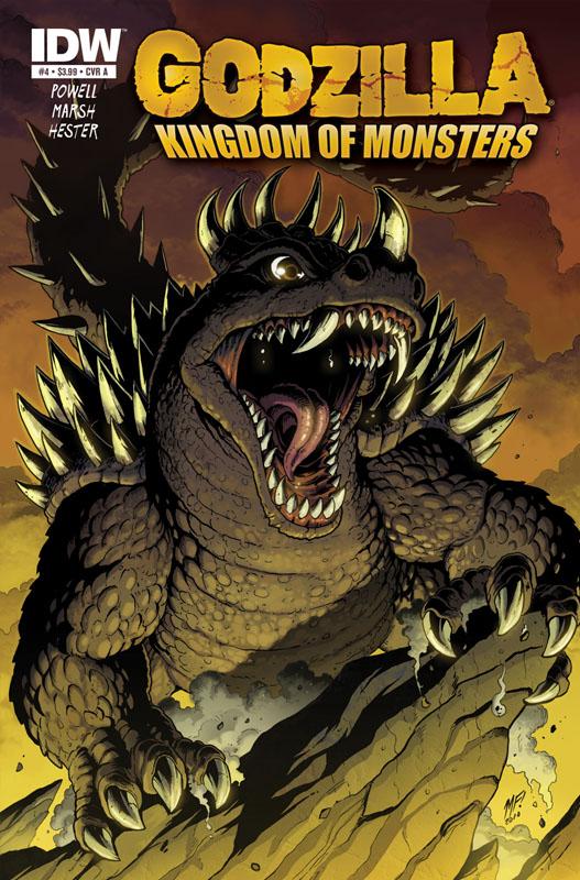 Godzilla KOM issue 3 cover by KaijuSamurai