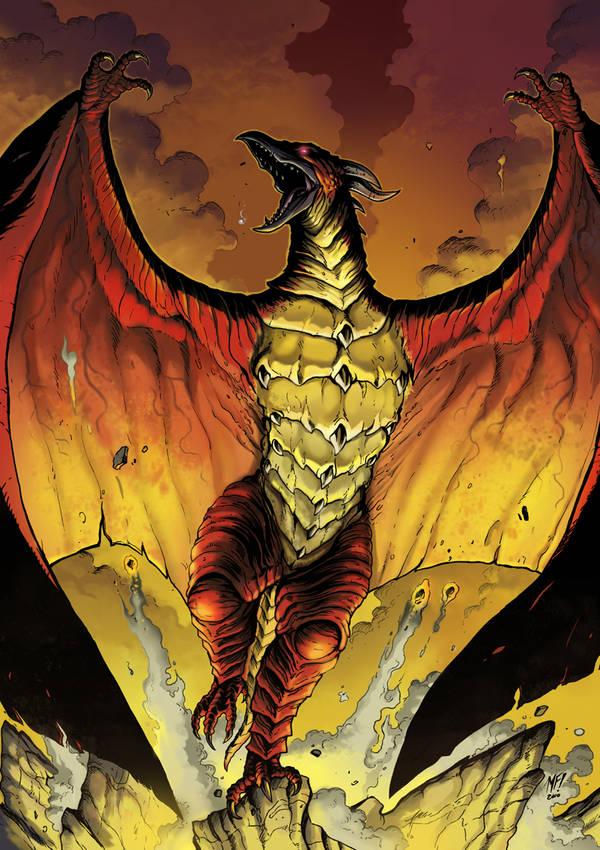 Godzilla KOM Issue 2 alt cover by KaijuSamurai