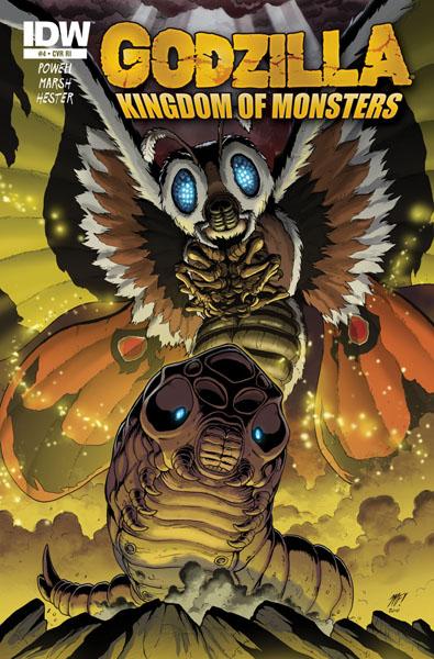 Godzilla KOM Issue 4 RE cover by KaijuSamurai