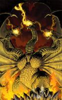 Godzilla KOM Issue 5 RE cover by KaijuSamurai
