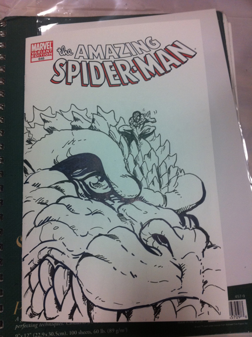 Spiderman sketch cover by KaijuSamurai