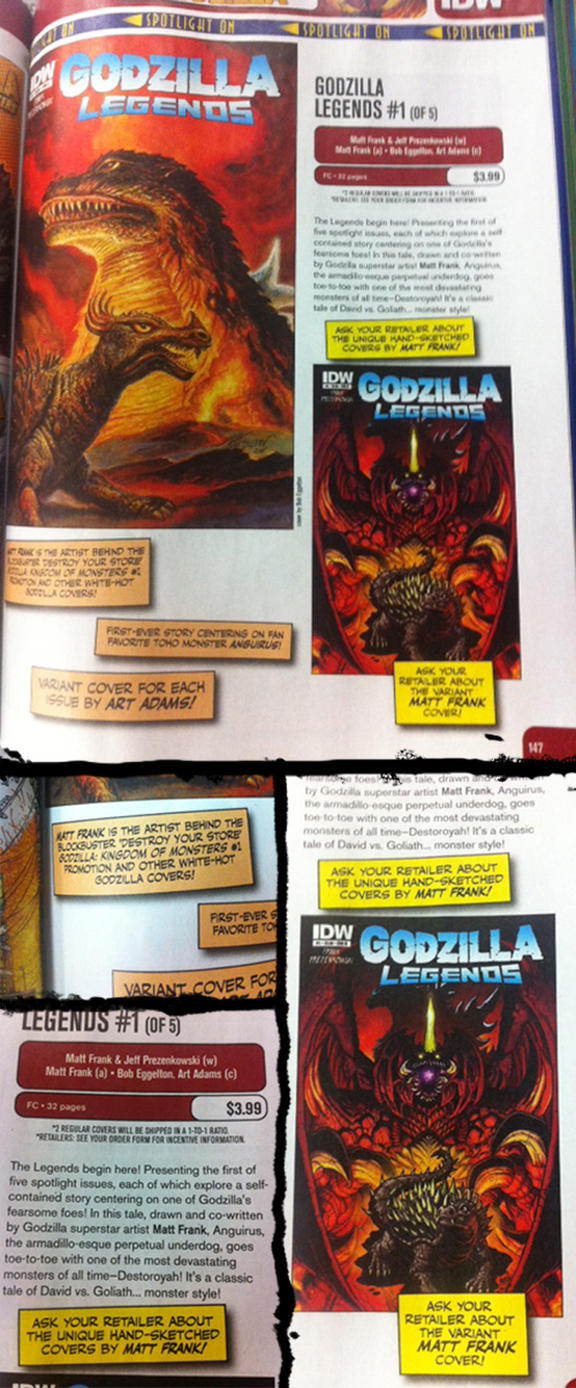 Godzilla Legends in Previews by KaijuSamurai