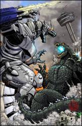 Godzilla vs Kiryu in SA by KaijuSamurai