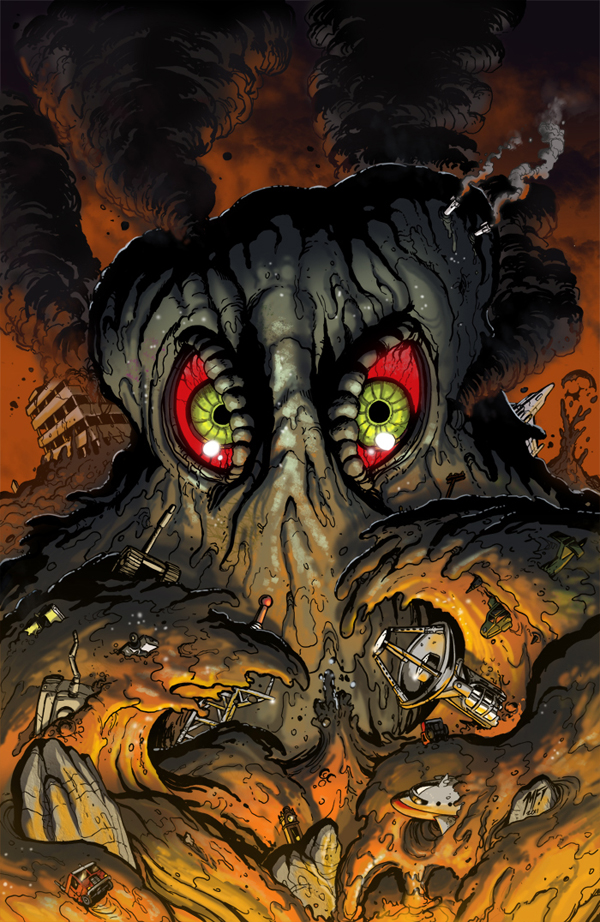 Godzilla KOM issue 10 cover by KaijuSamurai