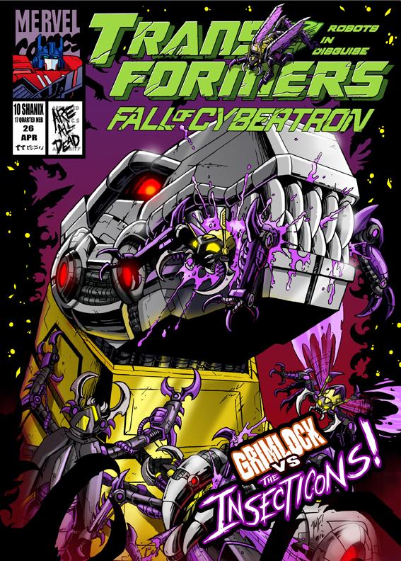 fall of cybertron comic cover botcon print by