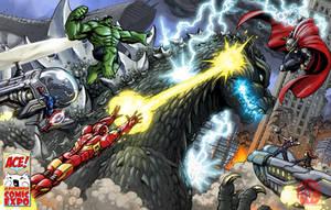 The Avengers VS Godzilla