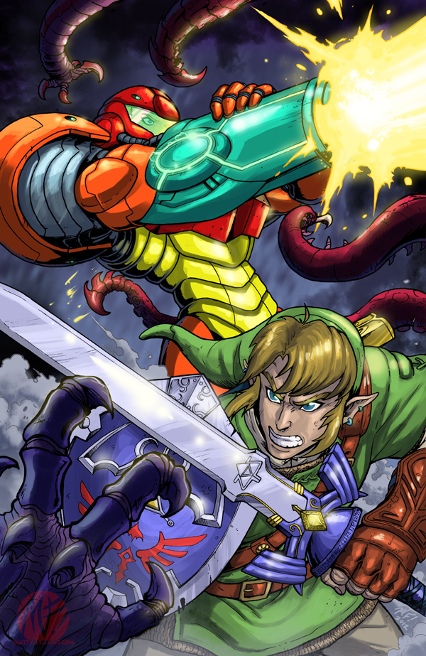 Samus and Link Team Up by KaijuSamurai